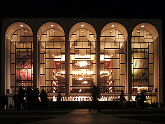 Metropolitan Opera - Metropolitan Opera House at Lincoln Center for the Performing Arts, home of the Metropolitan Opera