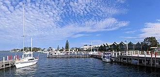 Mackerel sky - Image: Metung Wharf Pano, Vic