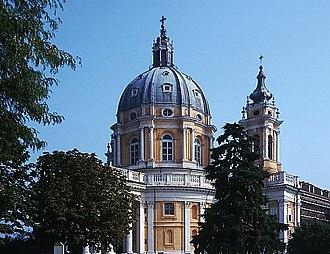 Italian Baroque architecture - Basilica di Superga near Turin: Filippo Juvarra