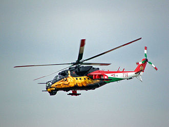 Kecskemét Air Show - Hungarian Mi-24, with a special livery, painted especially for the Air Show