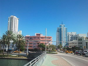 Mid-Beach - Bridge over Indian Creek, 41st Street, Miami Beach