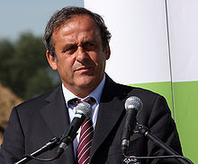 Michel Platini in Wroclaw by Klearchos Kapoutsis wide crop.jpg