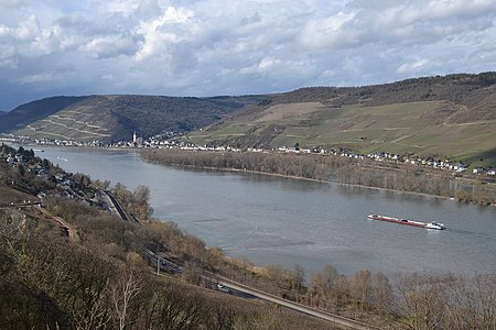 Middle Rhine - view from point near Burg Sooneck