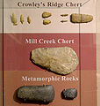 Mill Creek chert hoe and other artifacts Parkin HRoe 01.jpg