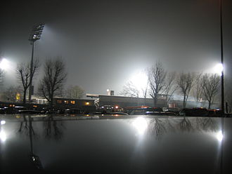 St. Pauli - A floodlit Millerntor-Stadion