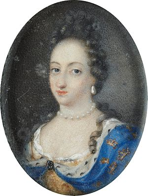 1693 in Sweden - Miniature portrait of Queen Ulrika Eleonora the Elder, Queen of Sweden 1680-1693 - Google Art Project