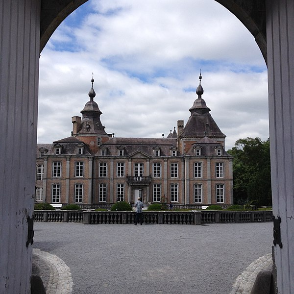 Entrance to the Modave Castle in Belgium