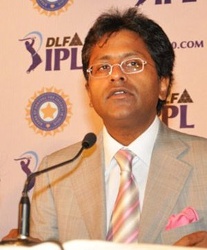 Lalit Modi - Modi at IPL players auction