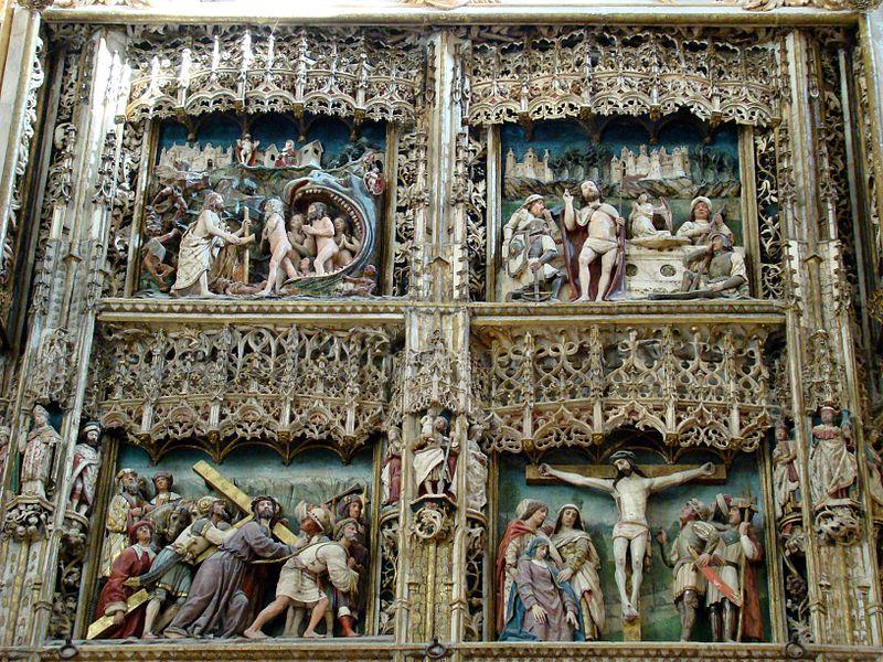 Monasterio de El Paular, Retablo Mayor, cuatro escenas.jpg