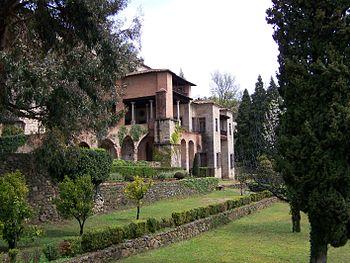 Vista exterior del monasterio de Yuste.