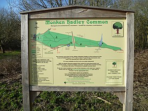 Monken Hadley Common - Map of the Common.