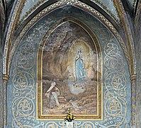 Montech - Notre-Dame de la Visitation - Mural by Louis Cazottes Apparition of the Virgin.jpg