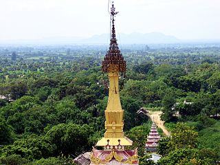 Monywa City in Sagaing Region, Myanmar