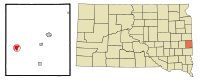 Moody County South Dakota Incorporated and Unincorporated areas Colman Highlighted.svg