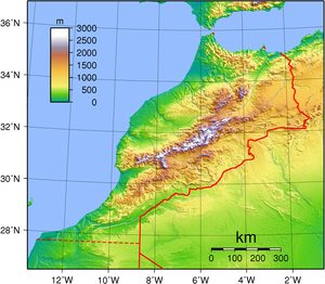 Geography of Morocco - Topography of Morocco