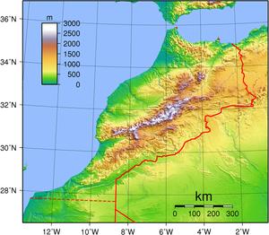 Wildlife of Morocco - Topography of Morocco