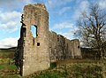 Morton Castle, Thornhill, Dumfries and Galloway, Scotland - south facing fortifications detail.jpg