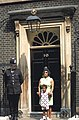Mother and daughter posing for a photo in front of 10 Downing Street - 2011.jpg