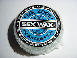 Sex wax snowboards