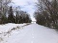 Muskogee snowstorm 2021-02-15 Centennial Trail Park Blvd SW.jpg