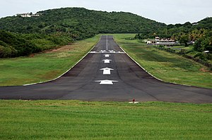 Mustique - Mustique International Airport.