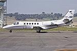MyJet Aviation (VH-JMM) Cessna 551 Citation II SP taxing at Wagga Wagga Airport (1).jpg