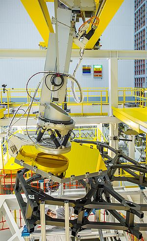 Robotic arm - Robotic arm installs primary mirror segments of the James Webb Space Telescope