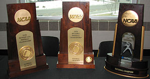 Appalachian State Mountaineers football - Appalachian's National Championship trophies