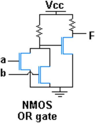 OR gate - NMOS OR gate