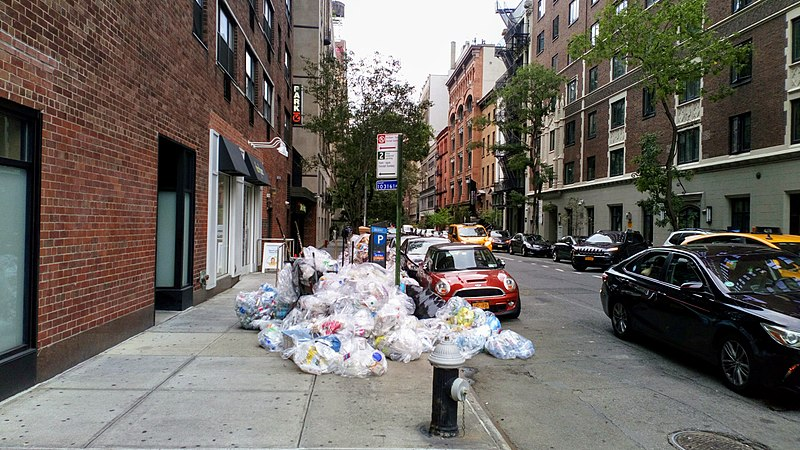 File:NYC - trash on sidewalk.jpg