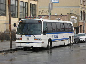 Police bus - New York City Police Department Bus