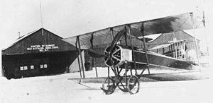 Air National Guard - A Galludet Tractor biplane which the New York National Guard aviators rented in 1915.