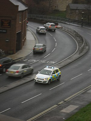 North Yorkshire Police - A North Yorkshire Police car responds to an emergency call