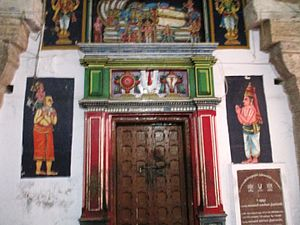 Thiruppaan Alvar - Shrine of Thirupaan Azhwar in Sri Azhagiya Manavala Perumal Temple, believed to be his birthplace.