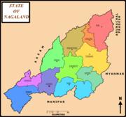 District map of Nagaland