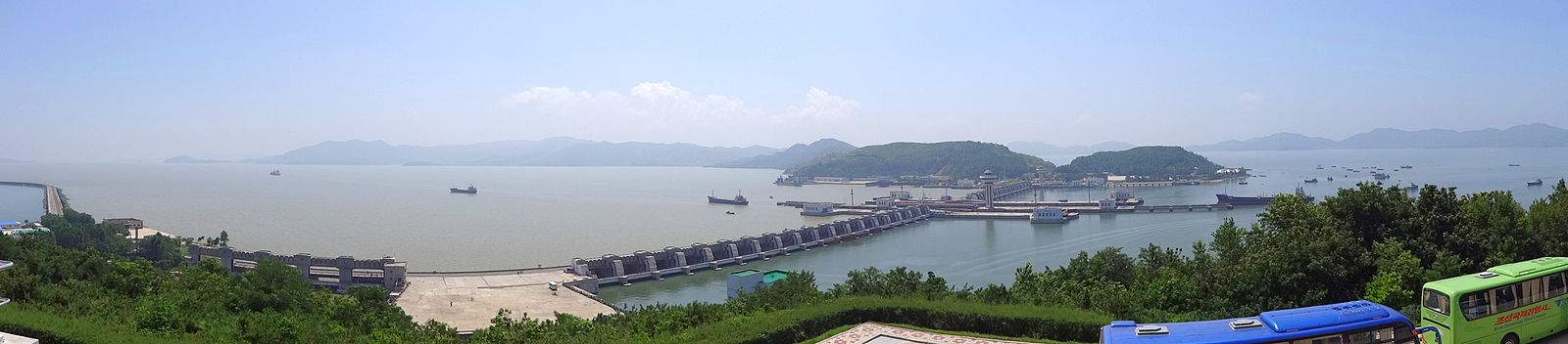 Panorama of Nampo Dam