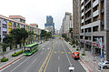 Nanjing West Road East View from Footbridge in Intersection of Nanjing West Road and Taiyuan Road 20151229.jpg