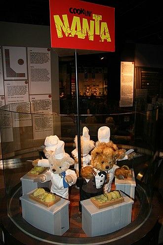 Nanta (show) - Cookin' Nanta teddy bear display at the Teddy Bear Museum in N Seoul Tower, South Korea