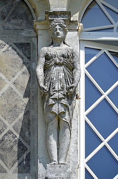 Caryatid of Villa de la Chantrerie's façade - Nantes