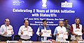 Narendra Singh Tomar releasing the DISHA Guidelines, at the celebration of the two years of District Development Coordination & Monitoring Committee (DISHA) initiative with StatesUTs, in New Delhi.JPG