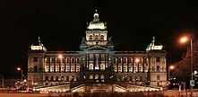 Una veduta notturna del Museo Nazionale
