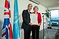 Nasser David Khalili with Irina Bokova 2012.jpg