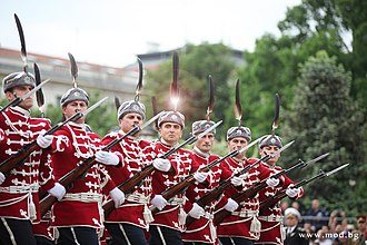 Bulgarian Armed Forces Day - Image: National Guard parade unit