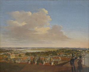 Fryderyk Skarbek - View of Warsaw from the Warsaw Society of Friends of Learning building, ca. 1825, by Fryderyk Skarbek