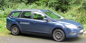 National Parks and Wildlife Service (Ireland) - NPWS car in the Wicklow Mountains National Park (2016)