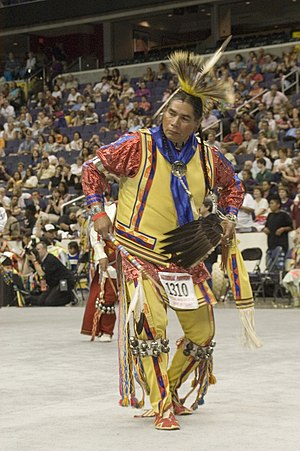 Straight dance - A Straight dancer at the 2005 National Pow Wow