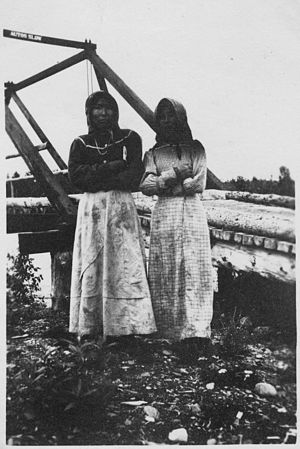 Ahtna - Ahtna women near Copper Center, Alaska