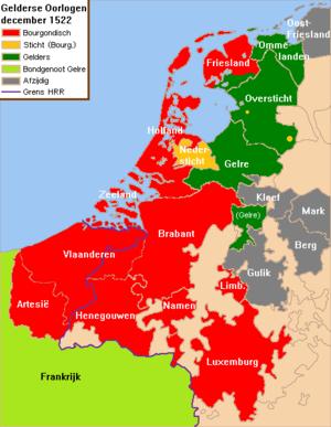 Guelders Wars - Image: Nederlanden 1522