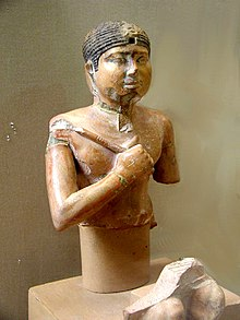 Painted limestone statue of Neferefre[1]