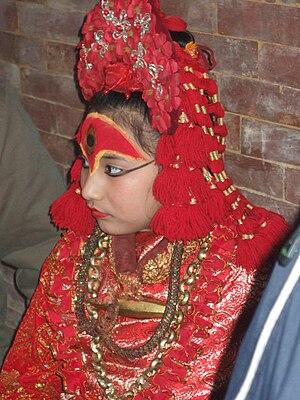 Kumari (goddess) - Kumari Devi, Kathmandu, March 2007